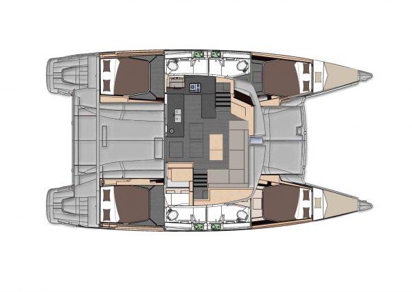 Nautical Escape luxury TYC Helia Catamaran layout