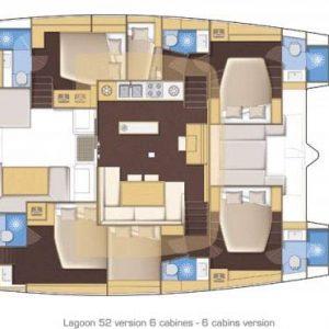 Nautical Escape luxury Catamaran diagram