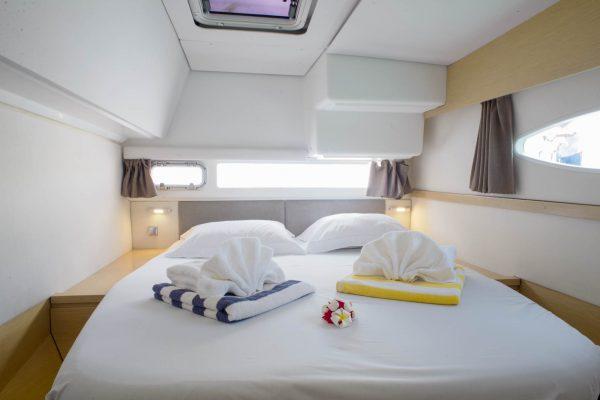 Nautical Escape luxury TYC Helia Catamaran bedroom