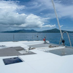 Nautical Escape luxury Catamaran deck