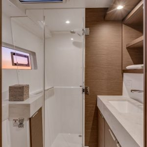 Nautical Escape luxury Catamaran bathroom