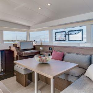 Nautical Escape luxury Catamaran living area