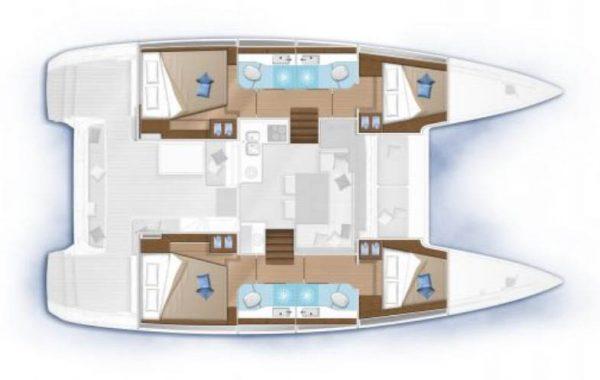 Nautical Escape luxury Catamaran layout