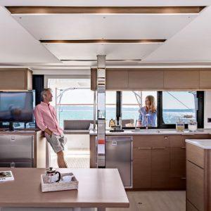 Nautical Escape luxury TYC Lagoon Catamaran living area