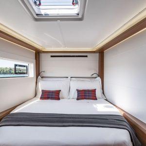 Nautical Escape luxury TYC Lagoon Catamaran bedroom