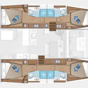 Nautical Escape luxury TYC Lagoon Catamaran layout