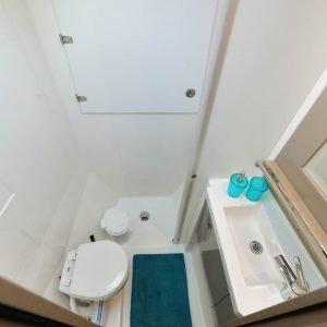 Saona 47 bathroom - Nautical Escape luxury sailing charter