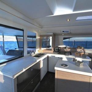 Saona 47 kitchen - Nautical Escape luxury sailing charter