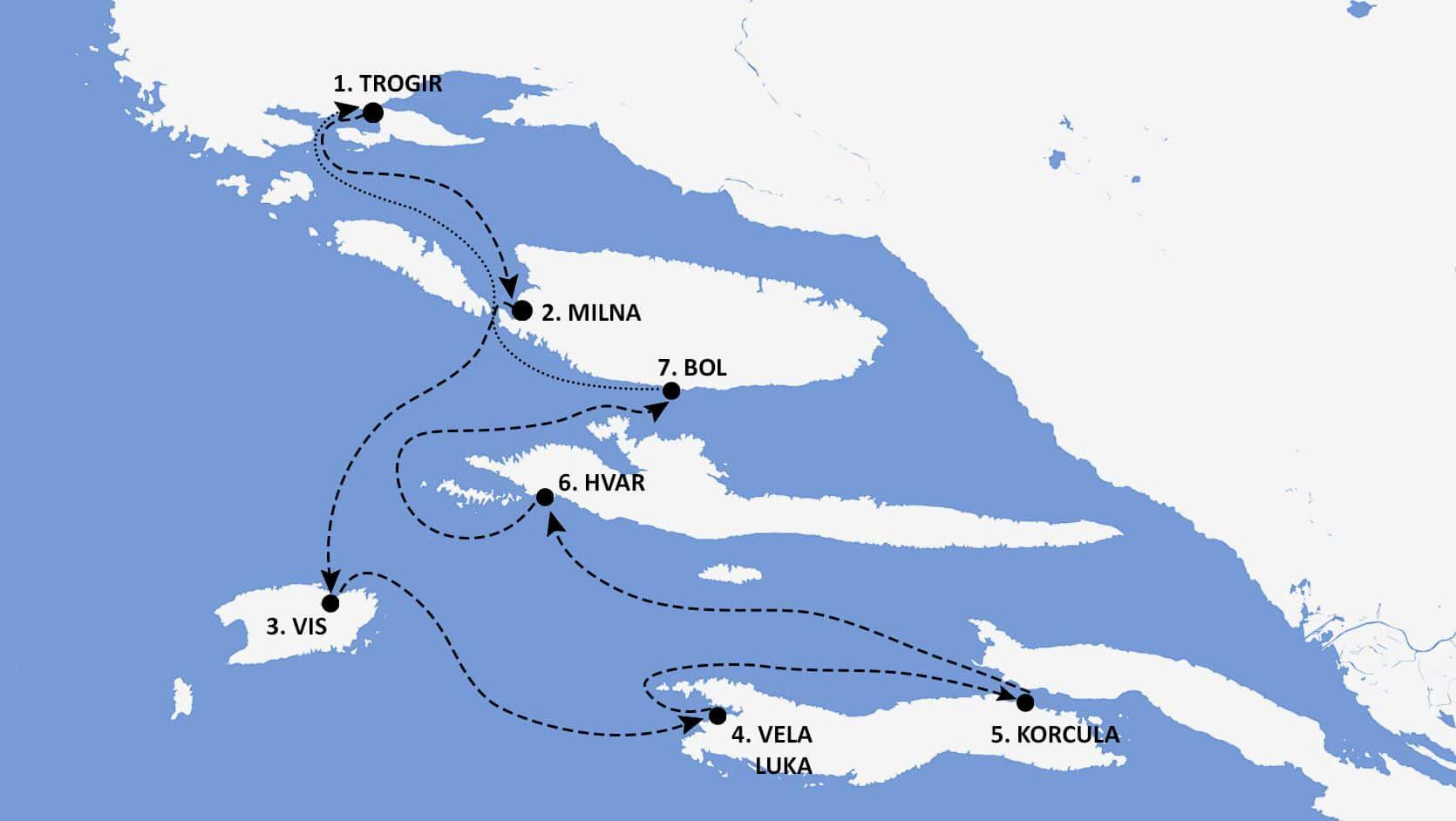 Croatia Itinerary Map - Nautical Escape