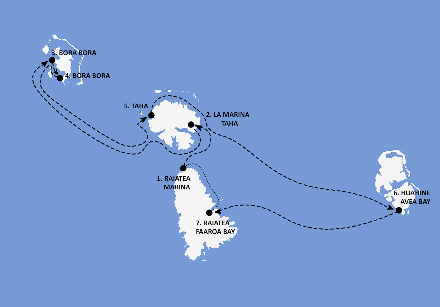 Tahiti-French Polynesia Itinerary Map - Nautical Escape