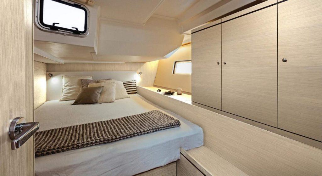 Nautical Escape luxury Monohull bedroom
