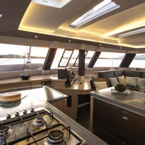 Nautical Escape luxury Saba Catamaran interior
