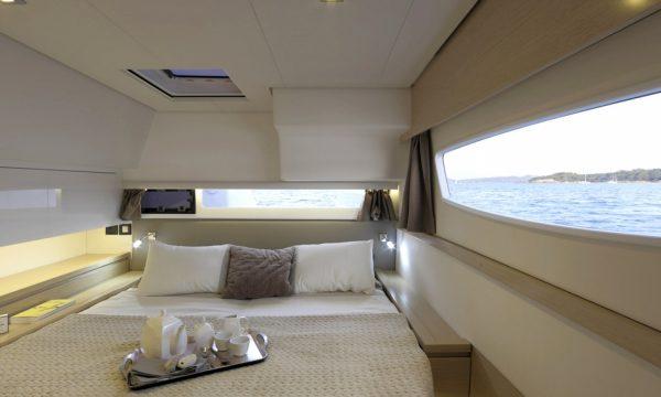Nautical Escape luxury Saba Catamaran bedroom
