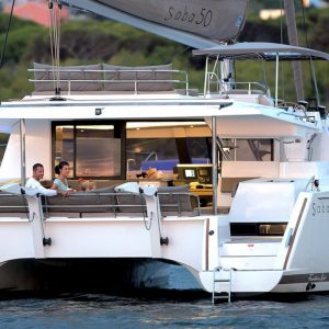 Nautical Escape luxury Saba 50 Catamaran sailing charter