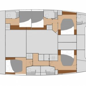 Nautical Escape luxury Saba Catamaran layout