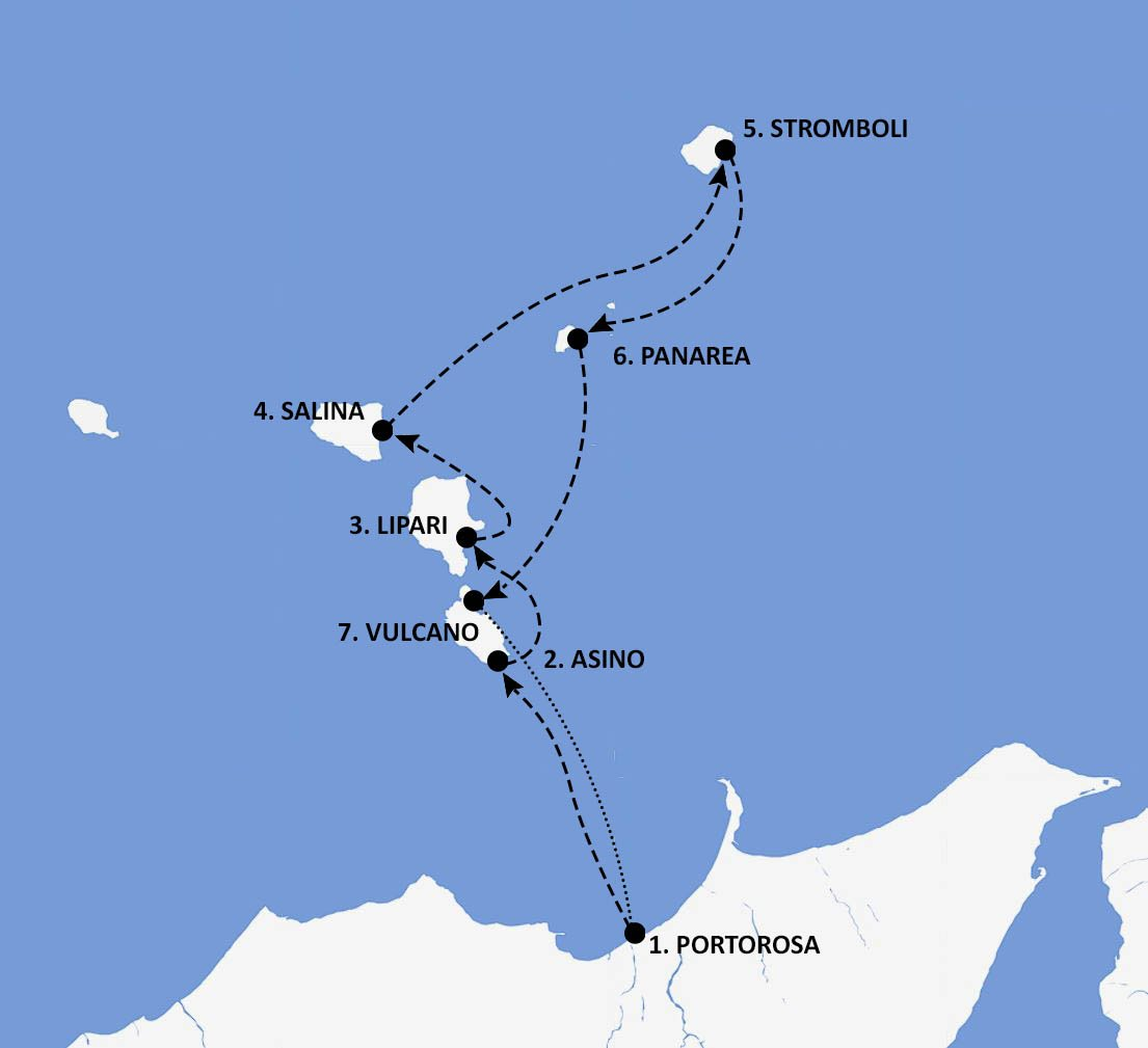 Italy Itinerary Map - Nautical Escape